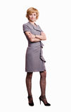Confident business woman over white Stock Images