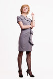 Confident business woman over white Royalty Free Stock Image