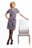 Confident business woman over white Stock Image