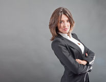 Confident business woman royalty free stock image