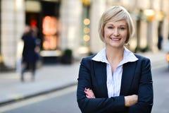 Confident business woman portrait Stock Photos