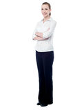 Confident business woman posing Stock Images