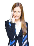 Confident Business Woman On Smart Mobile Phone Stock Photography
