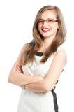 Confident business woman smiling Stock Photos