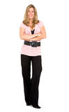 Confident business woman stand Stock Images