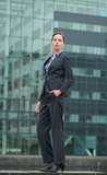 Confident business woman standing outdoors Royalty Free Stock Photography