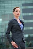 Confident business woman standing outdoors Royalty Free Stock Image