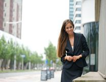 Confident business woman standing outdoors Stock Photos