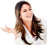 Confident business woman talking Royalty Free Stock Photo