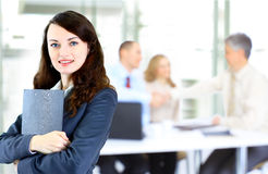business woman with team Stock Photography