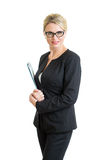 Confident business woman weared eyeglasses Royalty Free Stock Images