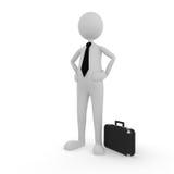 Confident Businessman. On white; 3D render Stock Image