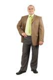Confident businessman. Full length portrait of a confident businessman isolated on white Royalty Free Stock Images