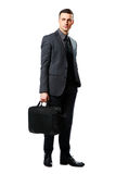 Confident businessman with bag Royalty Free Stock Photo