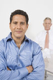 Confident businessman in blue shirt Stock Photos