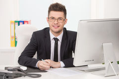 Confident businessman. Royalty Free Stock Photos