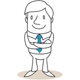 Confident businessman with crossed arms Royalty Free Stock Image