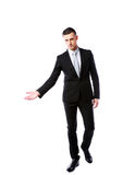 Confident businessman gesturing Royalty Free Stock Images