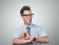 Confident businessman with glasses Stock Images