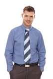 Confident businessman with hands in pockets Royalty Free Stock Photos