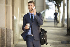 Confident Businessman In The City Royalty Free Stock Image