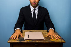 Confident businessman has just closed a deal Stock Photography