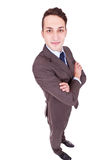 Confident businessman with his hands crossed Royalty Free Stock Photography
