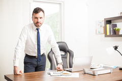 Confident businessman in his office Royalty Free Stock Photo