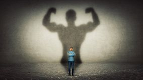 Powerful hero royalty free stock images