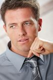 Confident businessman looking aside Stock Photo