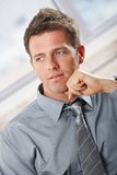 Confident businessman looking aside Royalty Free Stock Image