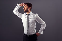 Man looking into the distance Royalty Free Stock Image