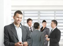Confident businessman in meeting room Royalty Free Stock Photos