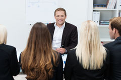 Confident businessman in a meeting Royalty Free Stock Photography