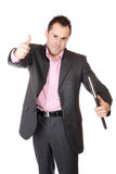 Confident businessman with notebook Stock Photography