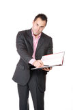 Confident businessman with notebook Royalty Free Stock Photography