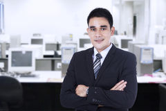 Confident businessman at office Royalty Free Stock Images