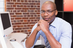 Confident businessman in office Royalty Free Stock Photo