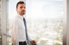 Confident businessman in an office Stock Photography
