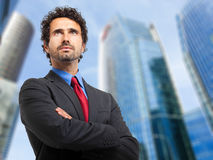 Confident businessman outdoor Royalty Free Stock Images