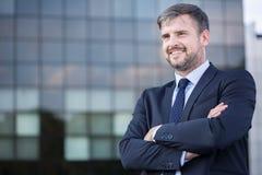 Confident businessman outdoor Stock Image