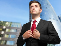 Confident businessman outdoor Royalty Free Stock Photo
