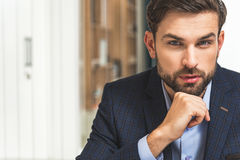 Confident businessman planning his work Stock Photography