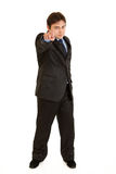 Confident businessman pointing finger at you Royalty Free Stock Image