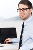 Confident businessman. Royalty Free Stock Image