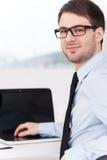 Confident businessman. royalty free stock image