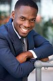 Confident businessman smiling with arms crossed Royalty Free Stock Photo