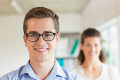 Confident businessman smiling in office Royalty Free Stock Photography