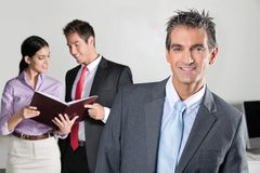 Confident Businessman Smiling Royalty Free Stock Image
