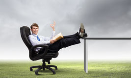 Confident businessman Stock Photo